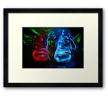 Old boots painted with light Framed Print