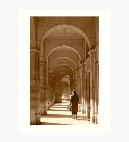 Archways in Paris, in sepia Art Print