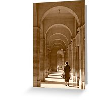 Archways in Paris, in sepia Greeting Card