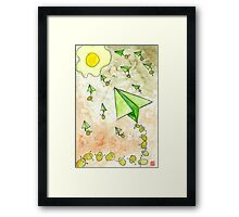 The Life Circulation of the Egg. Framed Print