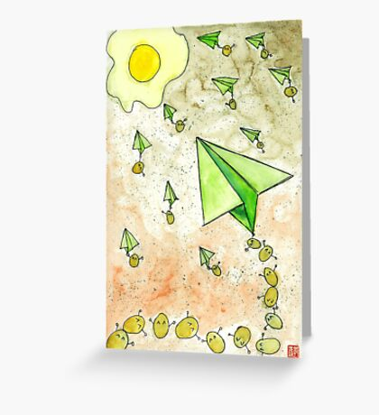 The Life Circulation of the Egg. Greeting Card