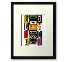Old School Cassette Tapes Framed Print