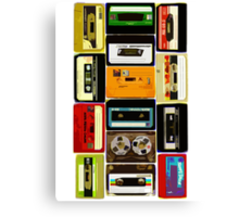 Old School Cassette Tapes Canvas Print