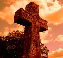 rustic cross.... by Tracy A Smith