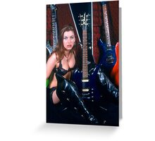 The Land of B.C Rich Greeting Card