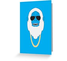 Abominable dough-man Greeting Card