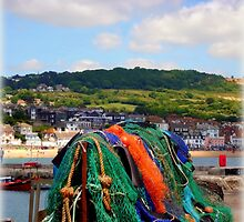 Fishing Nets on The Cobb by Charmiene Maxwell-batten
