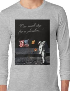 Goombas on the Moon (with text) Long Sleeve T-Shirt