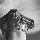 Column and clouds by Karen Eaton
