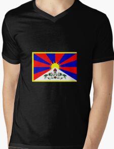 Tibet FLAG Mens V-Neck T-Shirt
