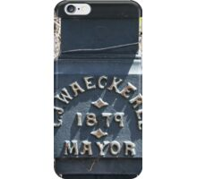 C J Waeckerle - 1879 Mayor iPhone Case/Skin