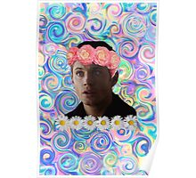 Flower Crown Dean Winchester Poster