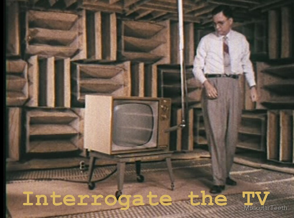 Interrogate the TV by MuscularTeeth