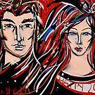 Happy 2015 My Friends - Mr & Mrs Poldark by Anthea  Slade