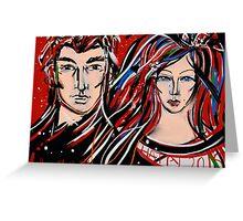 Happy 2015 My Friends - Mr & Mrs Poldark Greeting Card