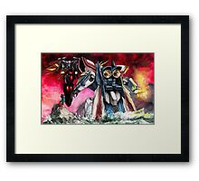 Gundam Fight! Framed Print