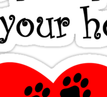 Silky Terriers Leave Paw Prints On Your Heart Sticker