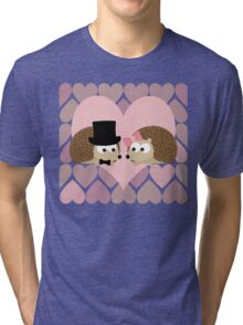 Hedgehogs and Hearts Tri-blend T-Shirt