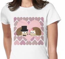 Hedgehogs and Hearts Womens Fitted T-Shirt