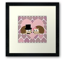 Hedgehogs and Hearts Framed Print