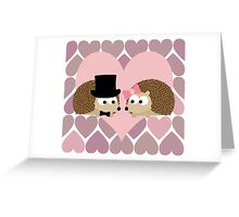 Hedgehogs and Hearts Greeting Card