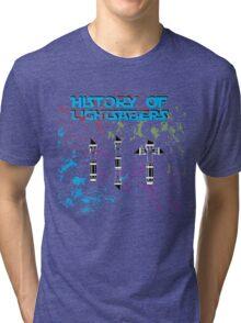 History of Lightsabers Tri-blend T-Shirt