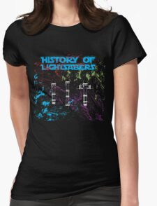 History of Lightsabers Womens Fitted T-Shirt