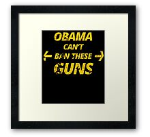 OBAMA CAN'T BAN THESE GUNS Framed Print