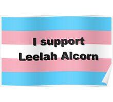 I support Leelah Alcorn (black) Poster