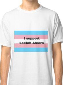 I support Leelah Alcorn (black) Classic T-Shirt