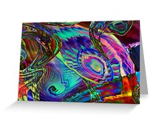 Three Layer abstract 110816 Greeting Card