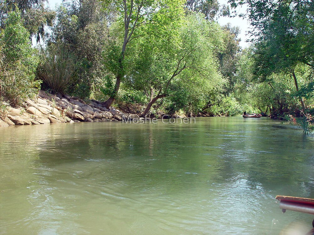 Rafting on the Jordan river by Moshe Cohen