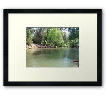Rafting on the Jordan river Framed Print