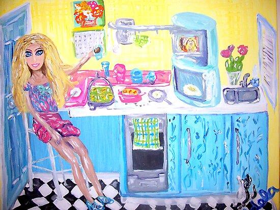 """Doll's Coffee Break"" by Adela Camille Sutton"