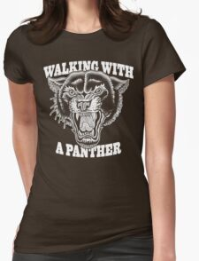 Walking with a panther tattoo design Womens Fitted T-Shirt