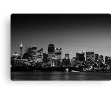 Sydney Sunset 1492 BW Canvas Print
