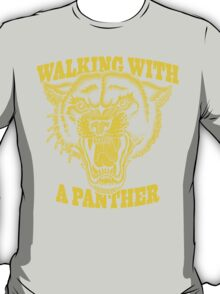 Walking with a panther tattoo design T-Shirt