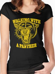Walking with a panther tattoo design Women's Fitted Scoop T-Shirt