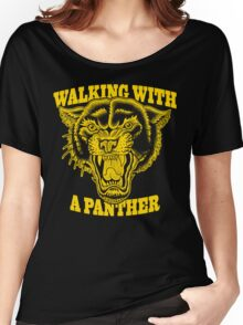 Walking with a panther tattoo design Women's Relaxed Fit T-Shirt