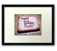 """Birthday Cake"" Framed Print"