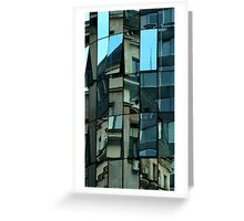 Patchwork Windows Greeting Card