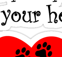 Wire Fox Terriers Leave Paw Prints On Your Heart Sticker