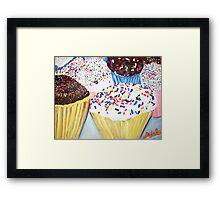 """Cupcakes With Sprinkles"" Framed Print"