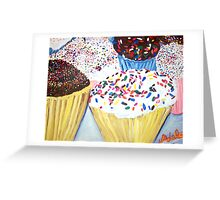 """Cupcakes With Sprinkles"" Greeting Card"
