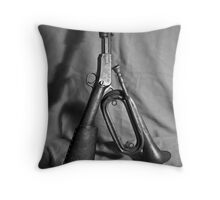 Old Gun and Bugle Throw Pillow