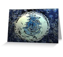 Blue Water Moon from the Altered States Collection Greeting Card