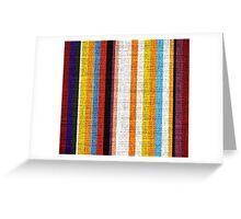 Colored Stripes Burlap Linen Rustic Jute Greeting Card