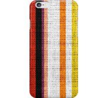 Colored Stripes Burlap Linen Rustic Jute iPhone Case/Skin