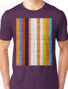 Colored Stripes Burlap Linen Rustic Jute Unisex T-Shirt