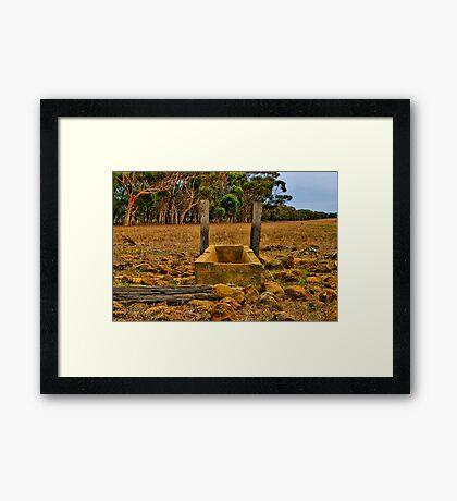 """""""Dry Stony Ground"""" Framed Print"""